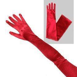 China Red Satin Long Bridal Opera Gloves on sale