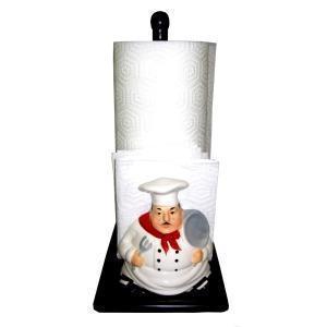 China White Chef Fat Bistro Paper Towel/Napkin Holder on sale