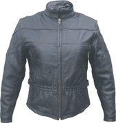 China Ladies Naked Cowhide Jacket with Elastic waist and spandex sides Sizes XS to 5XL on sale