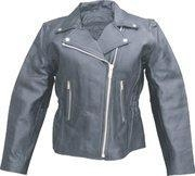 China Ladies Motorcycle Jacket Analine Cowhide - Sizes S to 5XL on sale