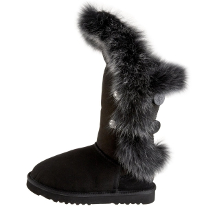 China Black Luxe Nordic Angel Short Boots on sale
