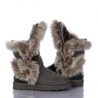 China Women's Australia Luxe Short Boots Grey on sale