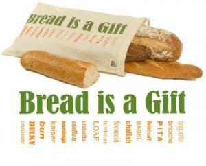 China Organic Bread Bag ECOBAGS Printed Reusable Bread Bag on sale