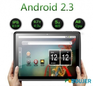 China 5 point Touch Android 2.3 OS 9.7inch Capacitive Tablet PC on sale