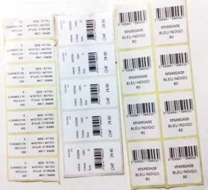 China Printed Barcode Stickers on sale