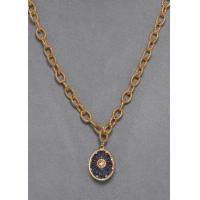 China St Petersburg Blue Egg Pendant Necklace on sale