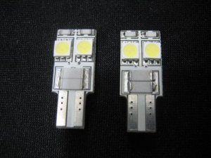 China 2x NO OBC ERROR built-in resistor 4-SMD LED Bulb (T10 194 168 Wedge) A402 on sale