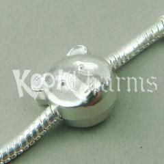 China 5 Silver Bear Beads FITS European Charm Bracelet PD08 on sale