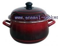 China enamelware (10pcs cookware with hollow handle) on sale