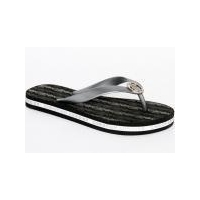 Christian Audigier Flip Flops Crow Crest Black