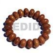 China Mentos Summer Jewellery Bayong Elastic Wood Beads Bracelets[BFJ5326BR] on sale