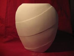 China Ceramic bisque Large Deco Wave Vase on sale