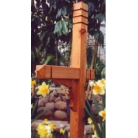 China TKCP4 Triple-Grooved Red Cedar Mailbox Post on sale
