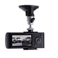 G-Sensor Dual Camera Car DVR recorder Vehicle DVR X3000