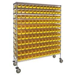 China High-Density Mobile Wire Bin Shelving on sale