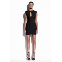 China Herve Leger Black Keyhole Bandage Dress on sale