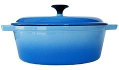 China FB2T-BE Enamel Cast Iron Oval Dutch Oven 4-Qt. on sale