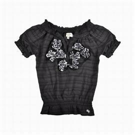 China Abercrombie & Fitch Womens Tops Clothing In Black White on sale