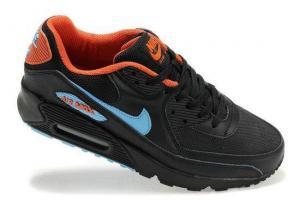 China Nike Air Max Mens 90 Shoes - Black/Sky/Orange on sale