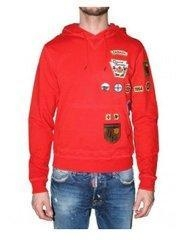 China Dsquared Online-Bright Red Men Hoodie Long Sleeve on sale