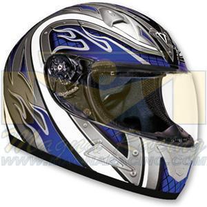 China Vega Mach 1 Heat Black/Blue Helmet, Small on sale