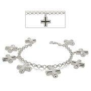 China Christian Cross Bracelet in Sterling Silver - Charm on sale