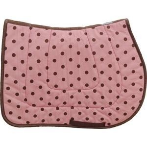 China Brown on Pink Polka Dot Saddle Pad - USA MADE on sale