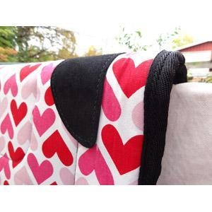 China Red and Pink 'Luv' Novelty Western Saddle Pad on sale