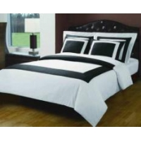 China White & Black Hotel Bed in a Bag on sale