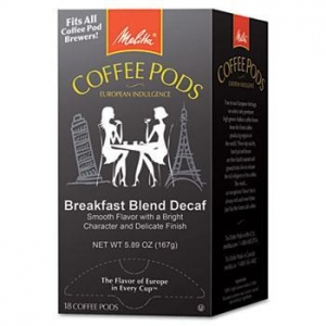 China Coffee Pods, Breakfast Blend Decaf, 18 Pods/Box on sale