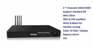 China NG104 GSM/CDMA VoIP Gateway (4 channels) on sale