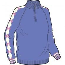 China Glenmuir Ladies Golf Sweater - Saskia - Iris/Winter White/Rose on sale