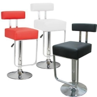 Modern Chrome Barstool Adjustable Swivel - Bar Stool - Set of Two (SM149A)