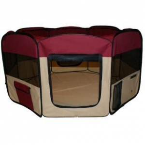 China Portable Pet Play Pen Red on sale