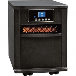 China Comfort Zone Infrared Quartz Heater - 5120 BTU, 1500 Watts, Black, Model# 125091 on sale
