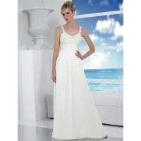 White Simple Wedding Dress