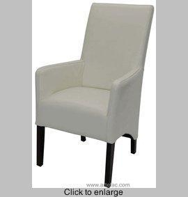 China Off-White Leather ArmChair RV-0185 on sale