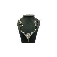 CZ diamonds fashion mangalsutra pendant set