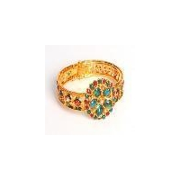 gold plated indian fashion designer bangle