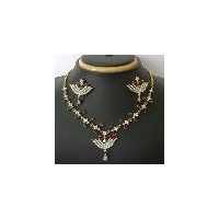 Fancy Fashion Designer Diamond Necklace Set
