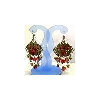 Antique fashion Indian sterling designer earring