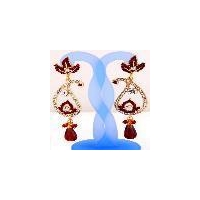Peacock shape diamonds earring