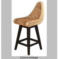 R-9119 Water Hyacinth Swivel Counter Stool