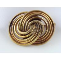 12k Gold Filled Twin Swirling Rings Vintage Brooch Pin