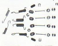China 1964-1971 Brake Spring and Hold Down Kit(Front and Rear 10x2 wide Drum Brakes) on sale