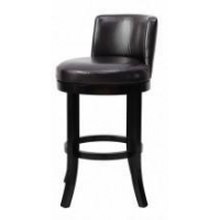Espresso Eco Leather 30H Swivel Bar Stool