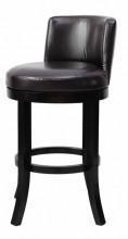 China Espresso Eco Leather 30H Swivel Bar Stool on sale