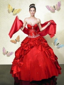 China Inexpensive Ball gown Sweetheart Floor-length Quinceanera Dresses Style Q488 on sale