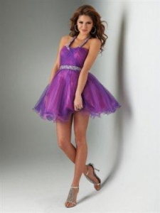 China 2012 Sweet Short Halter Mini-length Prom Dress Style PF5009 on sale