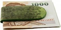 China Genuine frog / toad leather money clip FROGMCLIP01 Green on sale